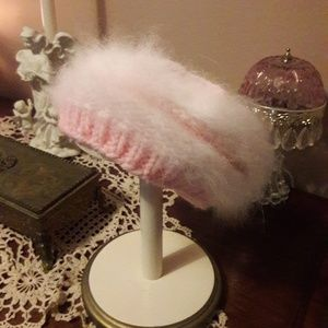 Vintage Hand Knitted Beret with French Angora!!
